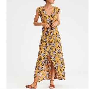 American Eagle Sleeve Duster Maxi Dress